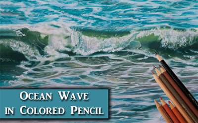 How to Draw an Ocean Wave in Colored Pencil