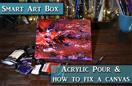 Acrylic Pour & How to Fix a Dented Canvas