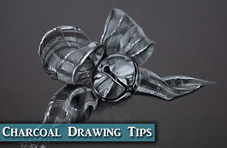 Christmas Bell in Charcoal Drawing Tips