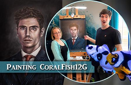 Oil Painting CoralFish12G Portrait