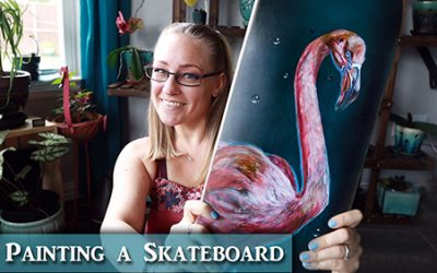 Painting a Skateboard Deck