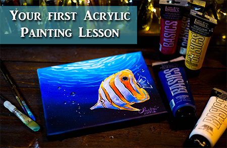 Acrylic Painting for Beginners – Step by Step Lesson