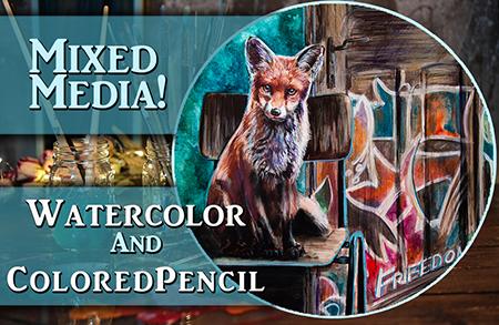 Mixed Media – Watercolor & Colored Pencil