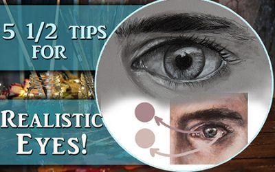 5 1/2 tips to paint & draw more realistic eyes