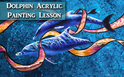 Dolphin Acrylic Painting Lesson