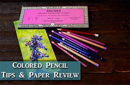 Arches Paper Review & Colored Pencil Tips