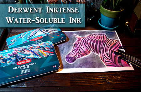 Derwent Inktense Zebra Painting Tips & Techniques