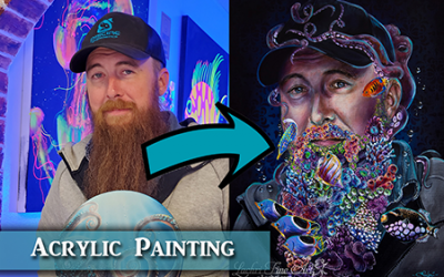 Surreal Acrylic Portrait Painting Tips