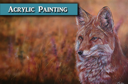Painting a Fox in Acrylics