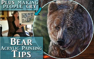 Bear in Acrylics – Tips for realistic Fur