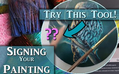 Make your acrylic painting signature look great with this tool!