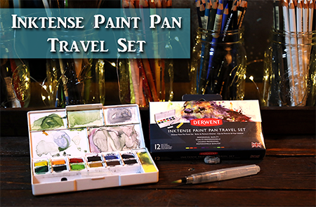 Painting Plein Air with Derwent's Inktense Travel Set!