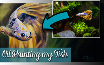 Oil Painting my Betta Fish
