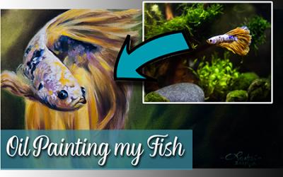Oil Painting my Betta Fish