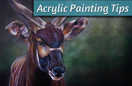 African Bongo Acrylic Painting Tips
