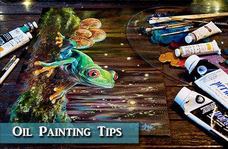 Oil Painting Tips – Red Eyed Tree Frog