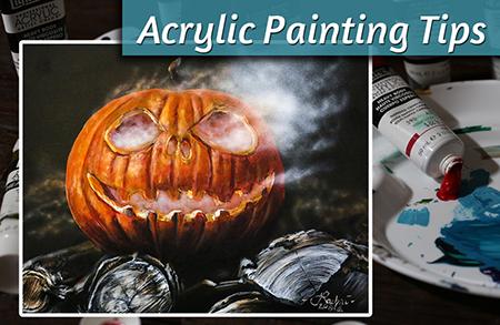 Acrylic Painting Tips – Jack-O-Lantern