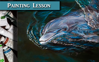 Dolphin Oil Over Acrylic Painting Lesson