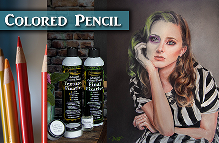 Portrait Tips in Colored Pencil & Powder Blender