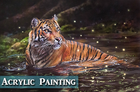 Tiger Acrylic Painting Tips