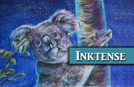 Koala Inktense Drawing