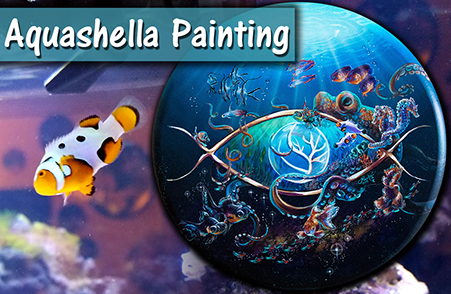 Aquashella Logo Fish Painting – Acrylic Painting Tips