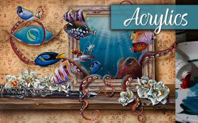 Aquashella Acrylic Painting