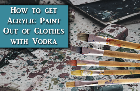 How to get Acrylic Paint out of Clothes