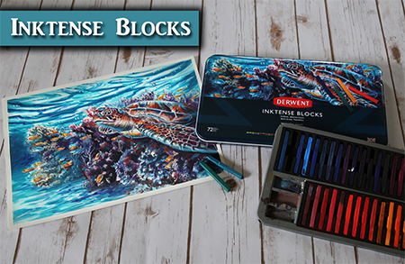 Painting the Artwork for the Derwent Inktense Blocks
