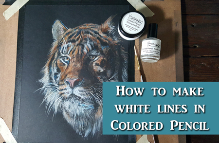 How to get White Lines & Detail in Colored Pencil
