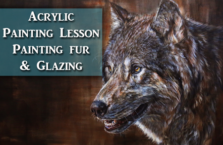 Wolf Acrylic Painting Tutorial