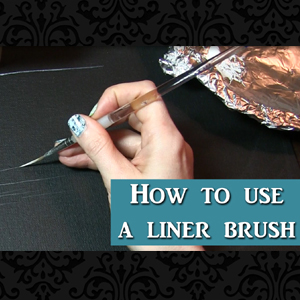 How to use a liner brush for fine detail in oil or acrylic painting