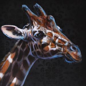 Giraffe oil over acrylic painting demonstration