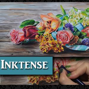 Derwent Inktense fall floral tutorial