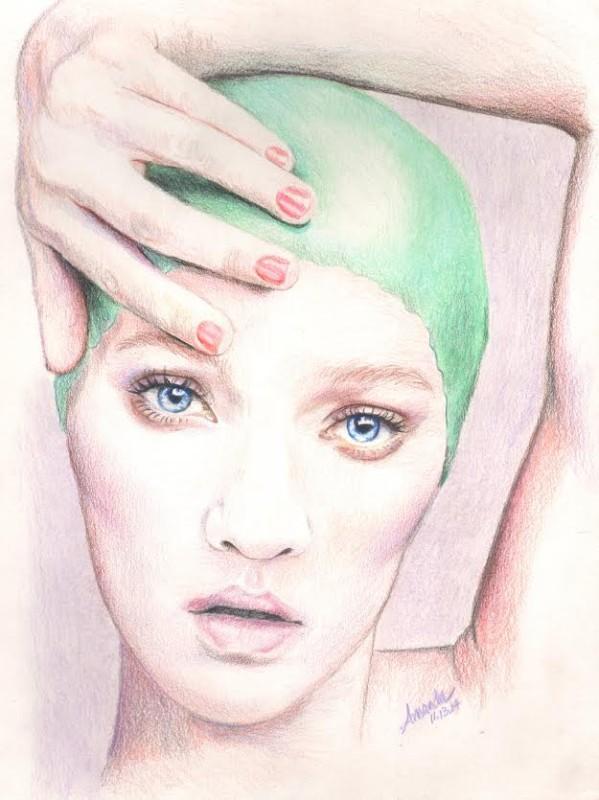 Swimmer Colored Pencil Critique - Lachri Fine Art
