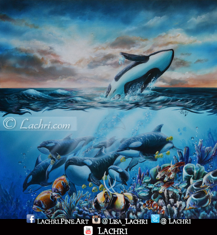 Finished orca painting