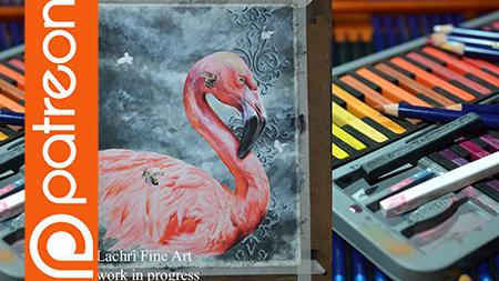 Patreon – Flamingo Inktense Lesson