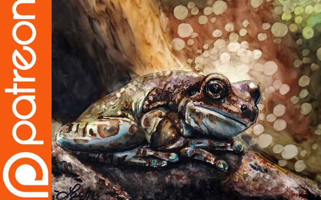 Patreon – Frog in Winsor & Newton Pigment Markers