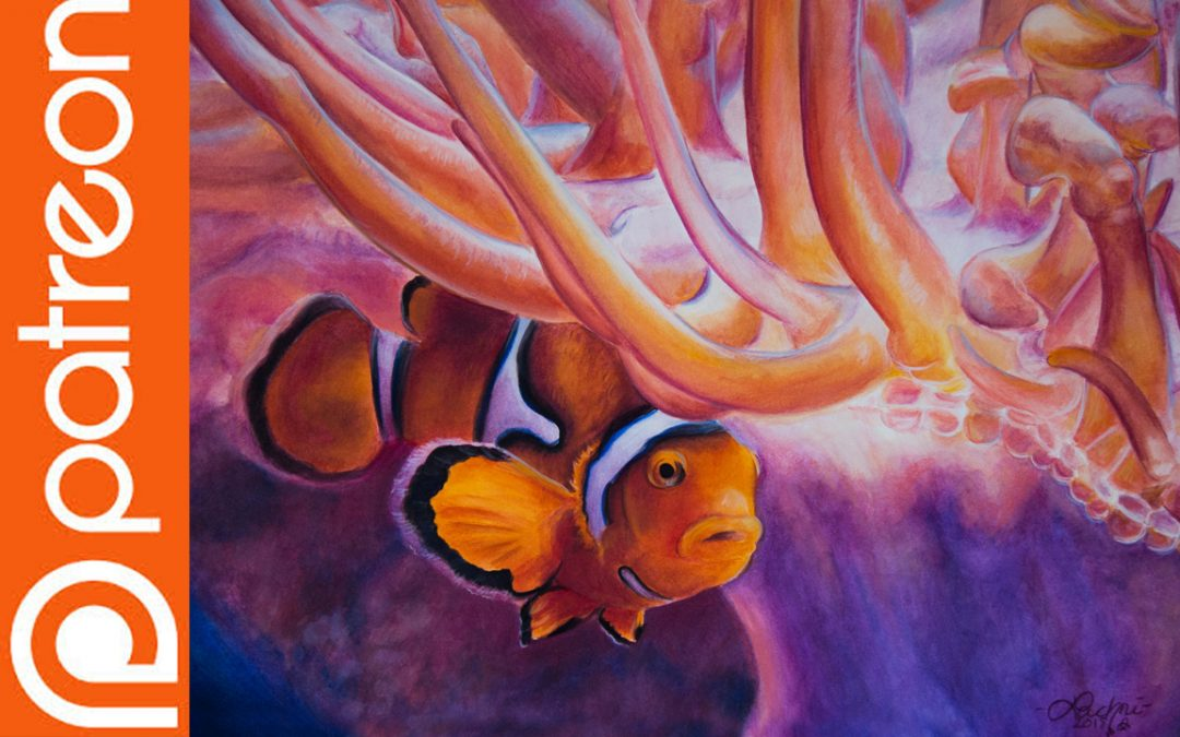Patreon – Clownfish Watercolor Pencil Lesson
