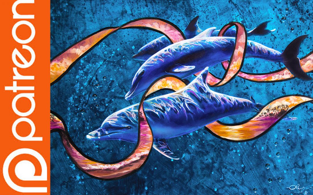 Patreon – Dolphin Acrylic Painting Lesson