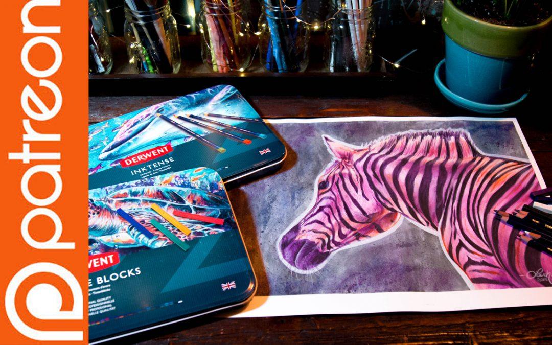 Patreon – Zebra Inktense Lesson