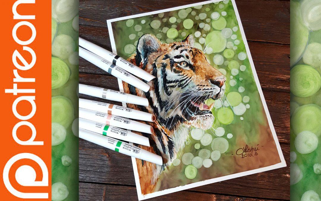 Patreon – Tiger Winsor & Newton Pigment Marker