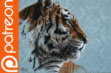 Patreon – Tiger Acrylic Painting Lesson